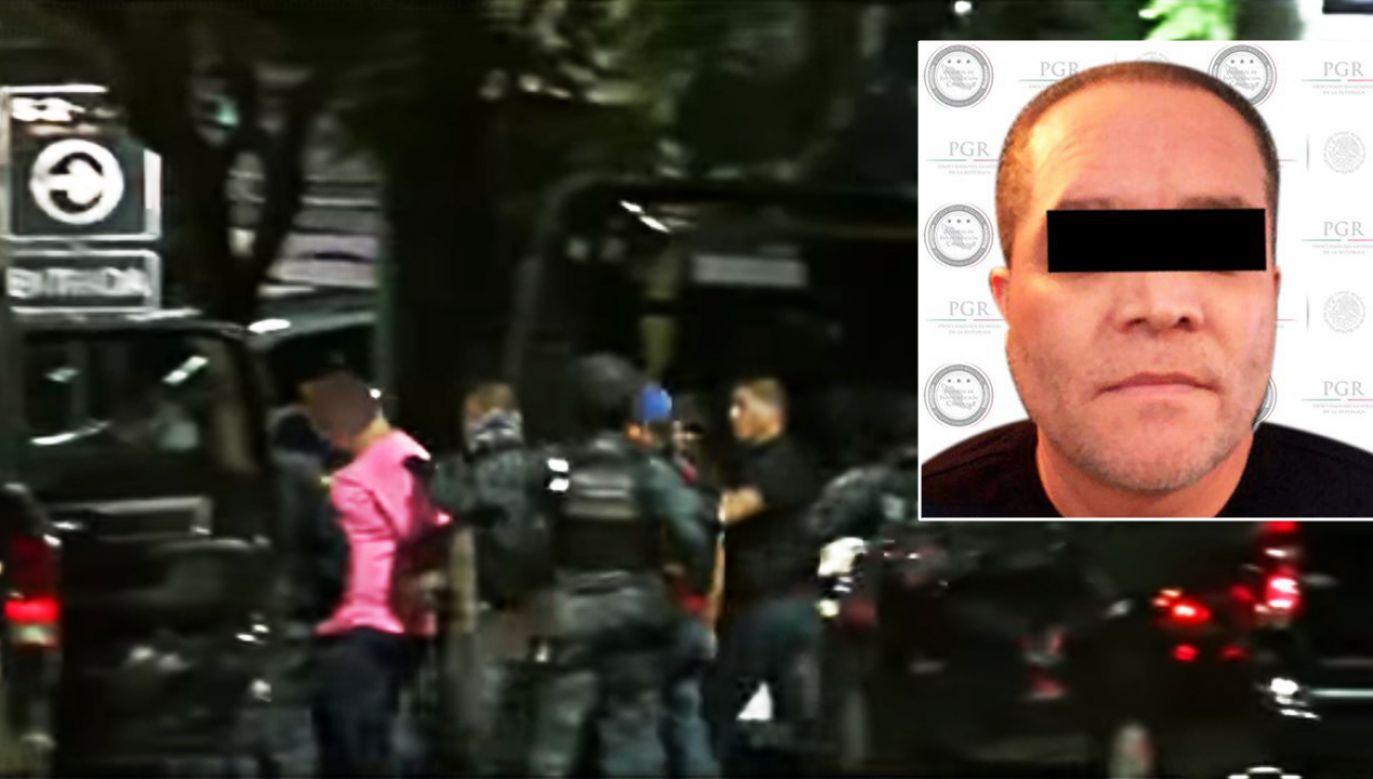 W ujęciu gangstera brało udział 20 jednostek służb mundurowych (fot. FB/Noticieros Televisa)