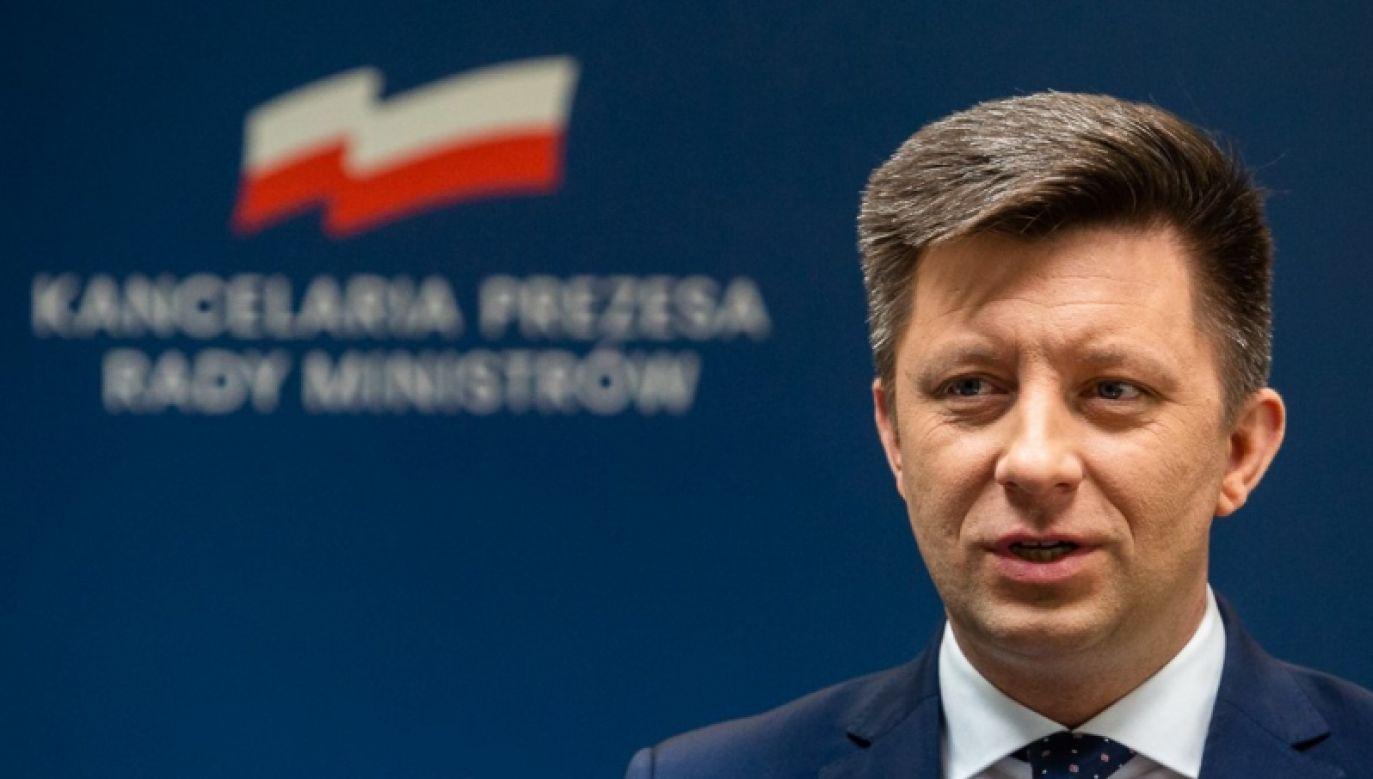 Szef kancelarii premiera Michał Dworczyk  (fot. KPRM/Adam Guz)