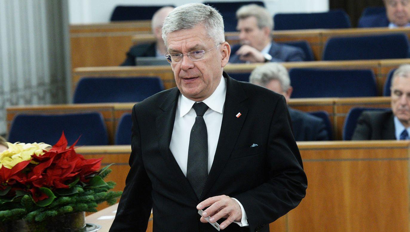 Marszałek Senatu o tempie zaopiniowania przez Senat ustaw o SN i KRS (fot. PAP/Jacek Turczyk)