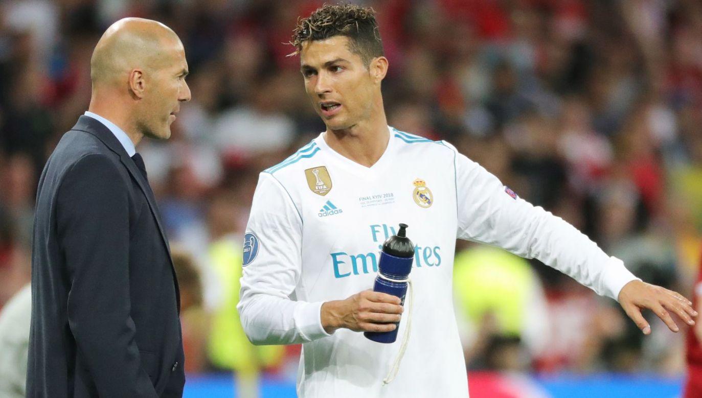 Zinedine Zidane i Cristiano Ronaldo (fot. PAP)