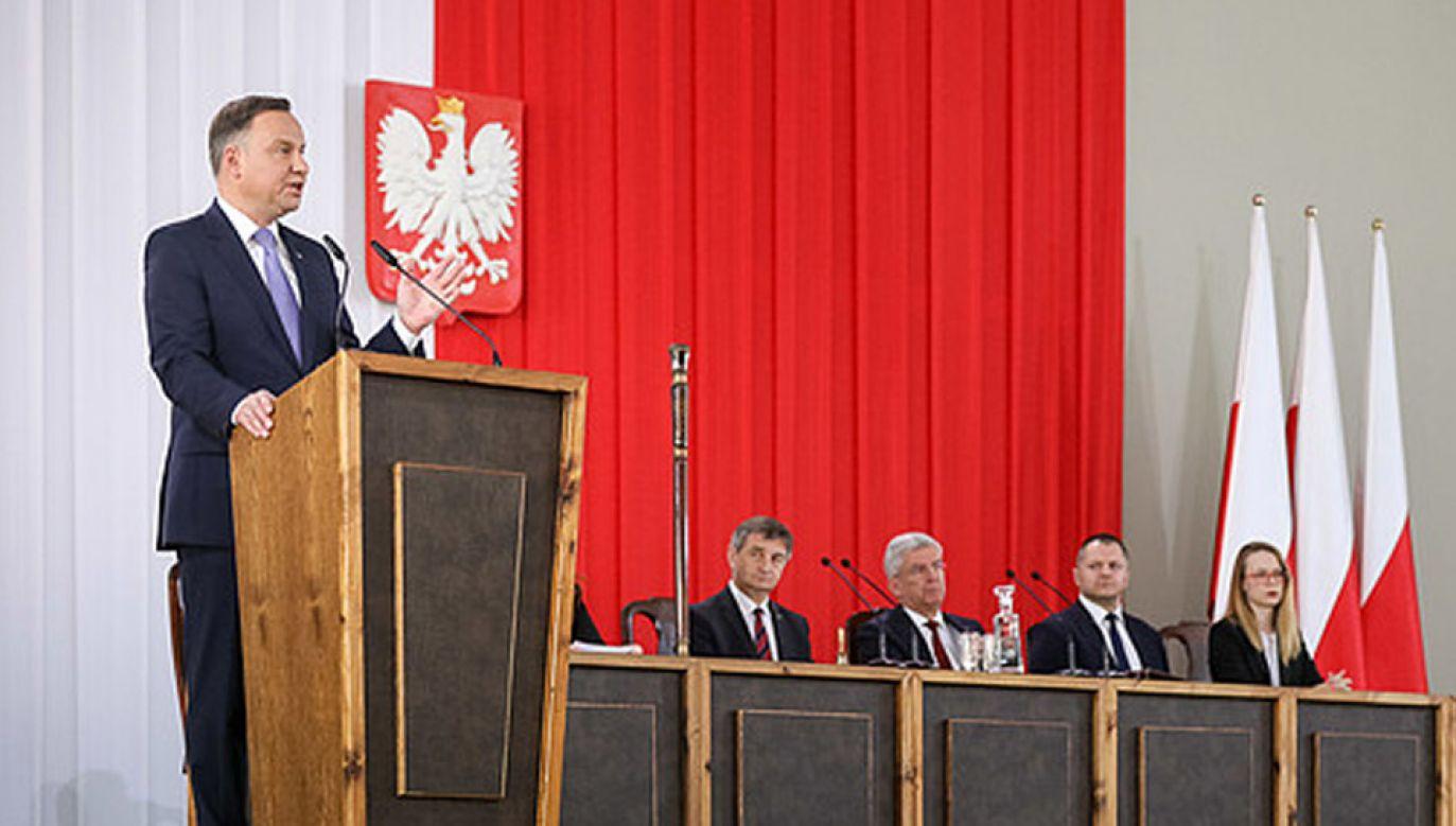 Wniosek prezydenta o referendum będzie rozpatrywany na ostatnim posiedzeniu Senatu w lipcu, (fot. KPRP/Jakub Szymczuk)