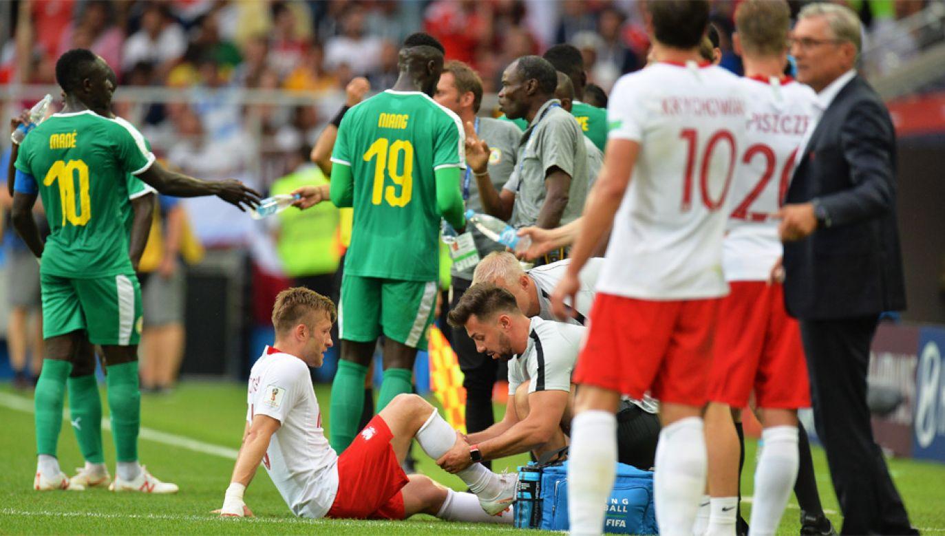 Mecz z Senegalem był setnym występem Jakuba Błaszczykowskiego w kadrze (fot. PAP/EPA/PETER POWELL)