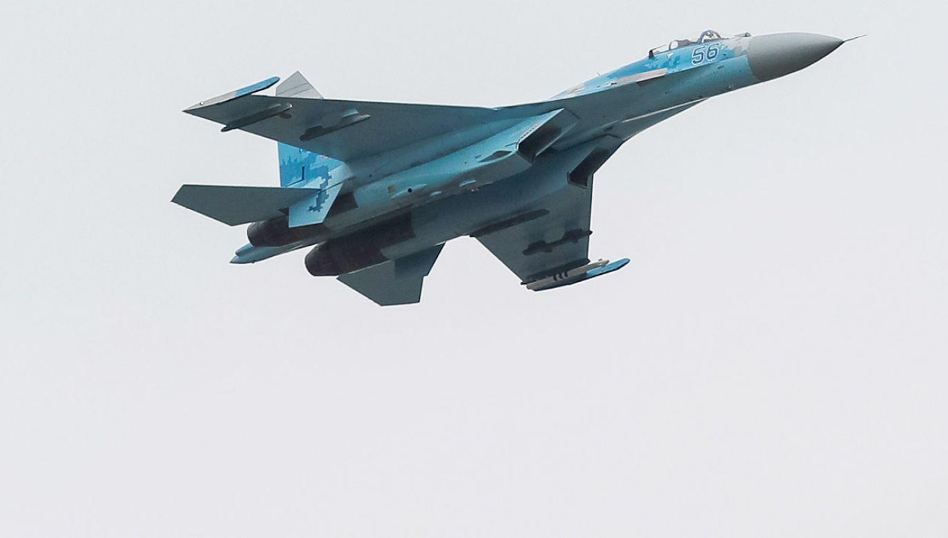 Na Ukrainie zginęli  dwaj piloci Su-27 (fot. REUTERS/Gleb Garanich, zdjęcie ilustracyjne)