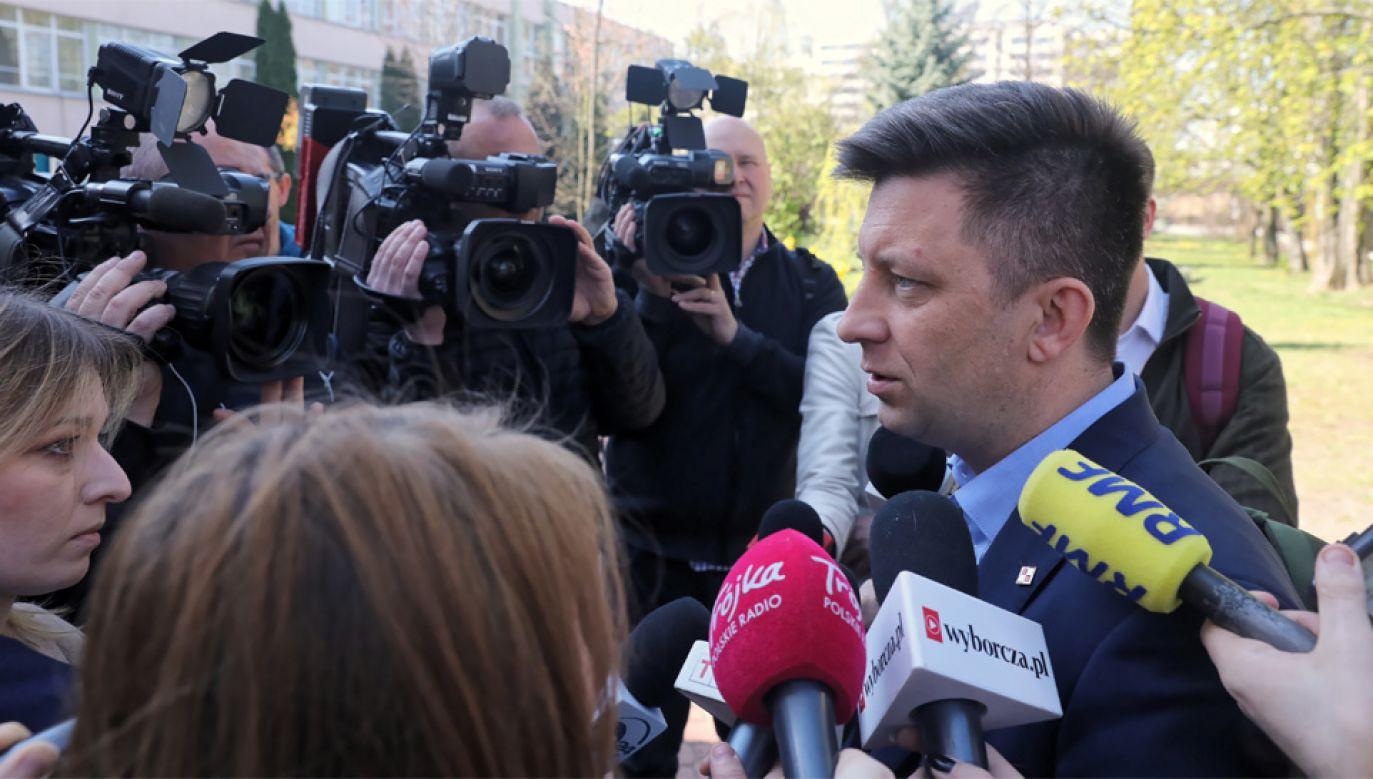Szef KPRM Michał Dworczyk (fot. PAP/Tomasz Gzell)