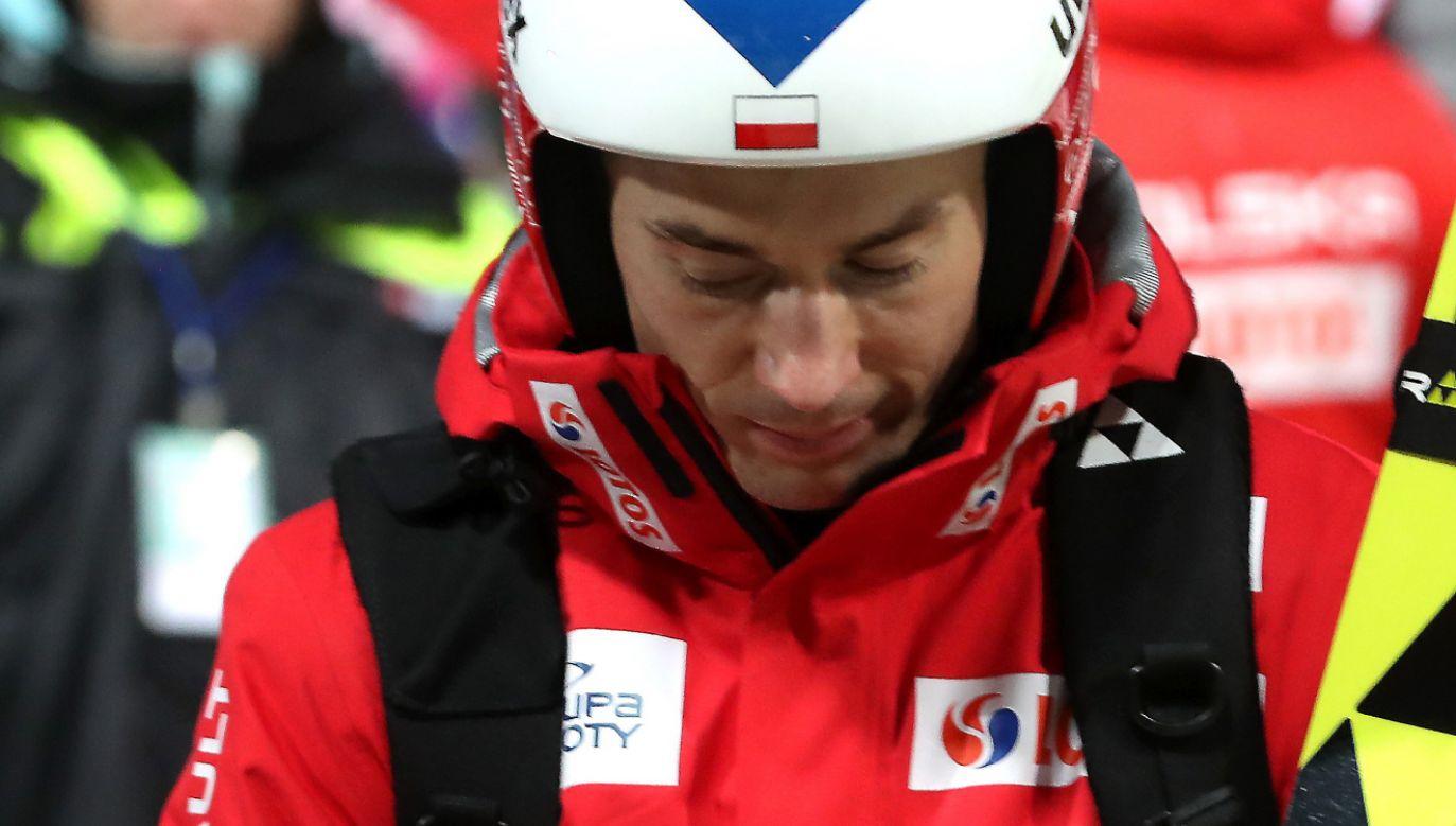 Kamil Stoch po zawodach Pucharu Świata w skokach narciarskich w Zakopanem (fot. PAP/Grzegorz Momot)