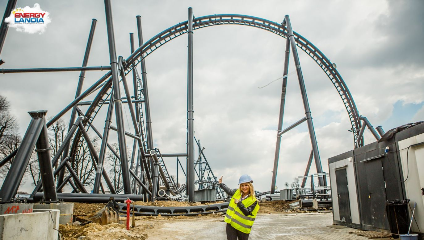 Hyperion ride under construction Photo: Energylandia Facebook/tkfotoart