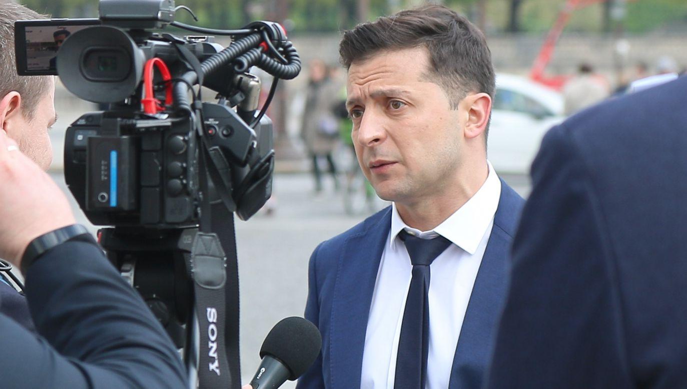 Wołodymyr Zełenski w Paryżu, 21 kwietnia 2019. Fot. Arina Lebedeva/TASS via Getty Images