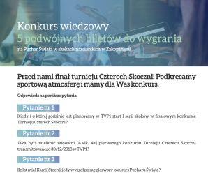 Puchar Świata w Zakopanem - konkurs dla Klientów BR TVP