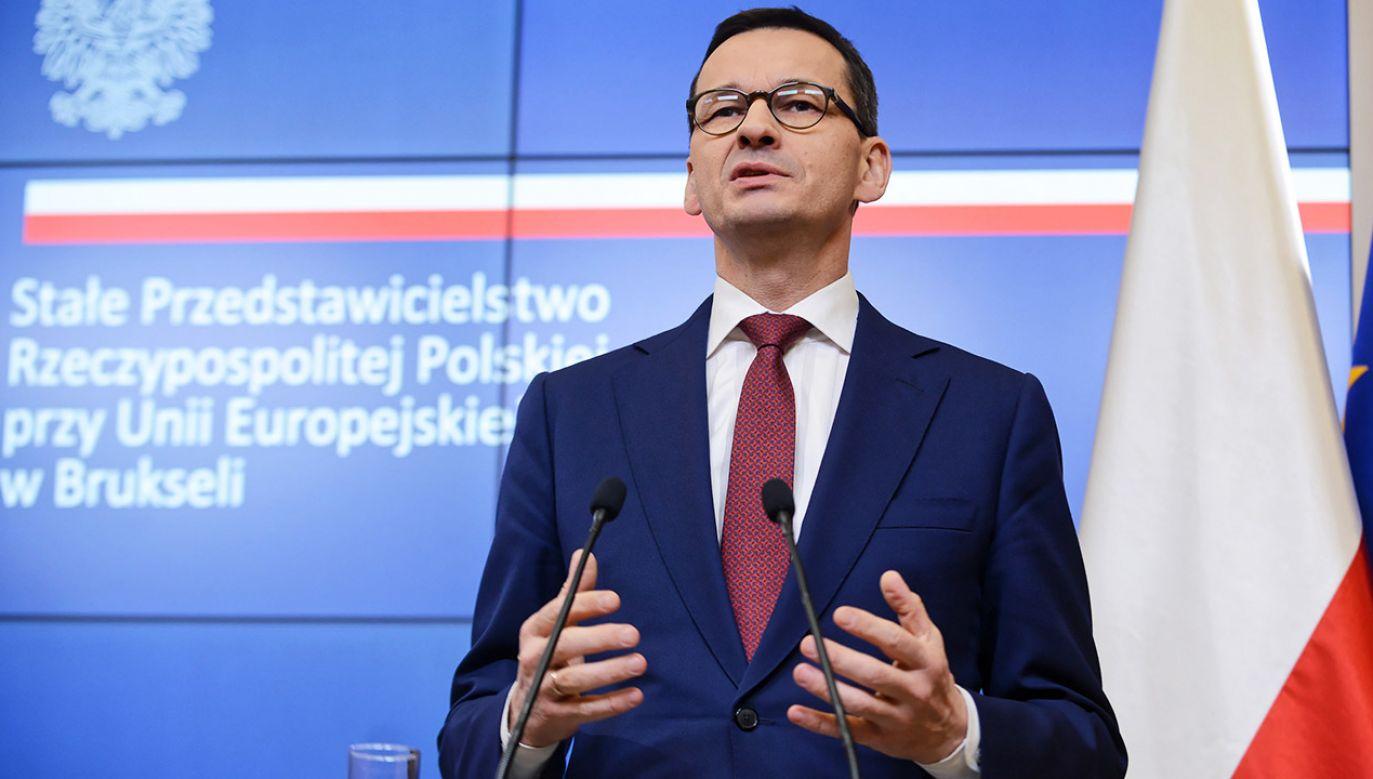 Premier Mateusz Morawiecki uczestniczył w unijnym szczycie w Brukseli (fot. PAP/Jakub Kamiński)