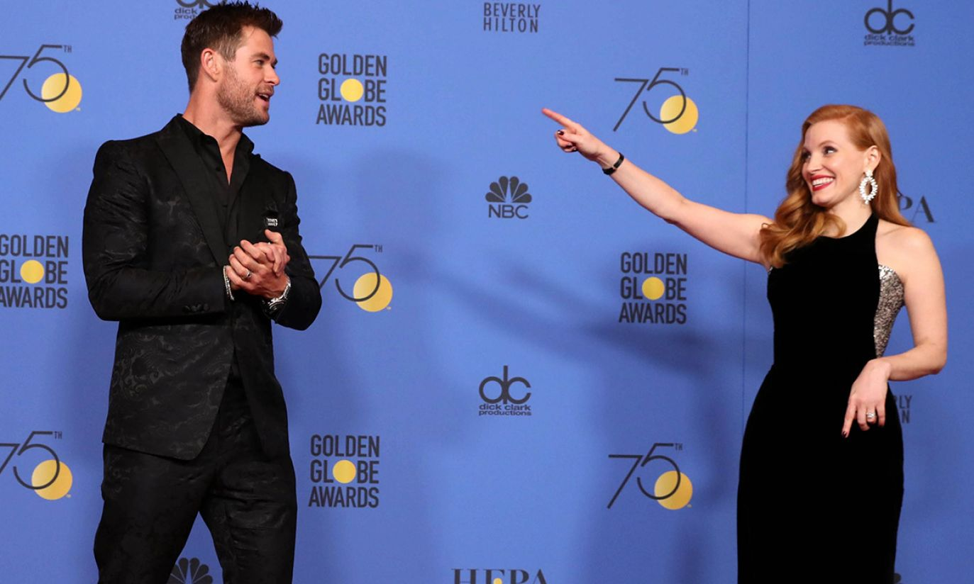 Chris Hemsworth i Jessica Chastain (fot. EPA/PAP)