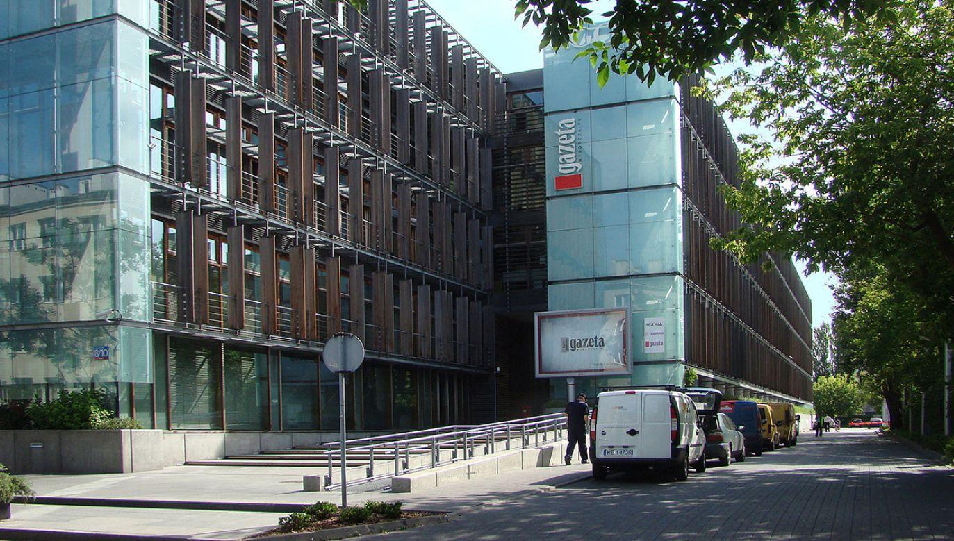 Główna siedziba redakcji Gazety Wyborczej w Warszawie (fot. pl.wikipedia.org)