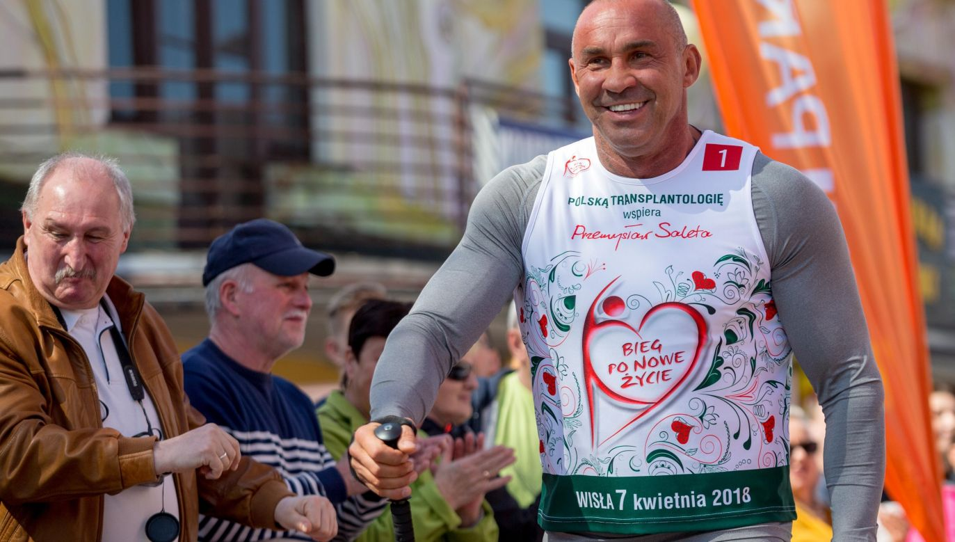 Former kick-boxer, Przemysław Saleta took part in the 12th edition of the race which took place in Wisła, a mountain town in southern Poland. Photo: PAP/Andrzej Grygiel