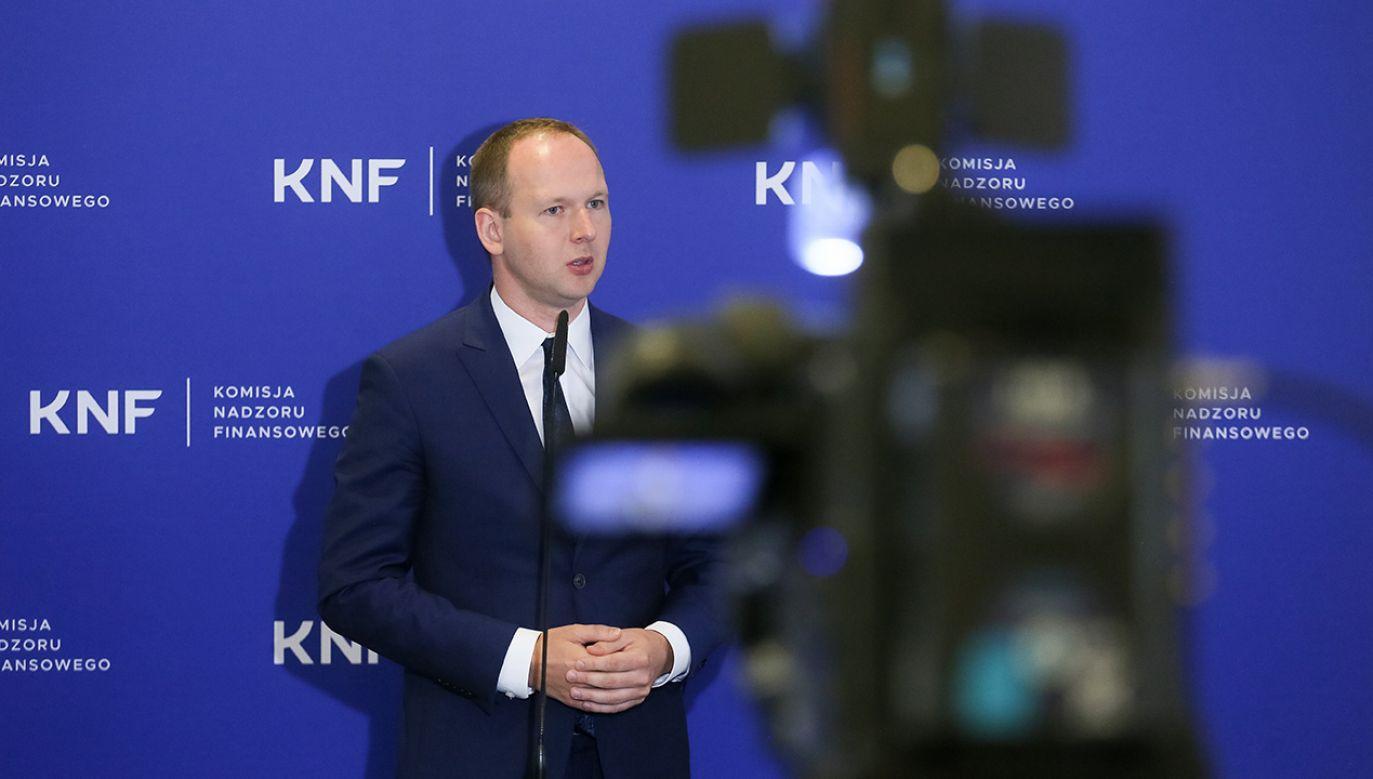 Przewodniczący Komisji Nadzoru Finansowego Marek Chrzanowski (fot. PAP/Paweł Supernak)