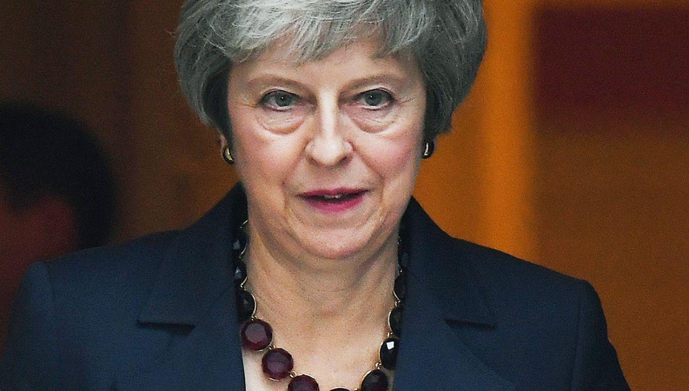 May będzie musiała uzyskać na brexit zielone światło od parlamentu (fot. PAP/EPA/ANDY RAIN)