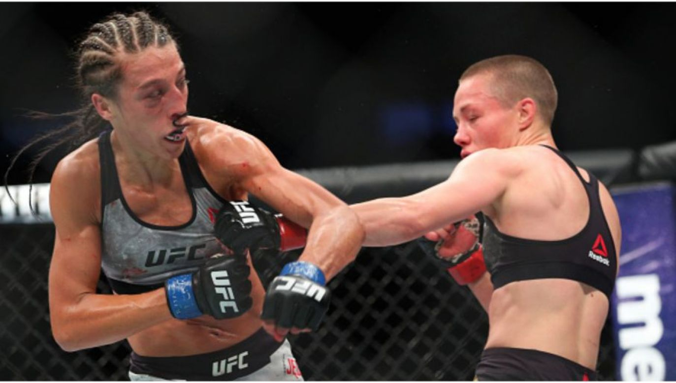 Jędrzejczyk (left) fighting Namajunas (right). Photo: Gettyimages.com