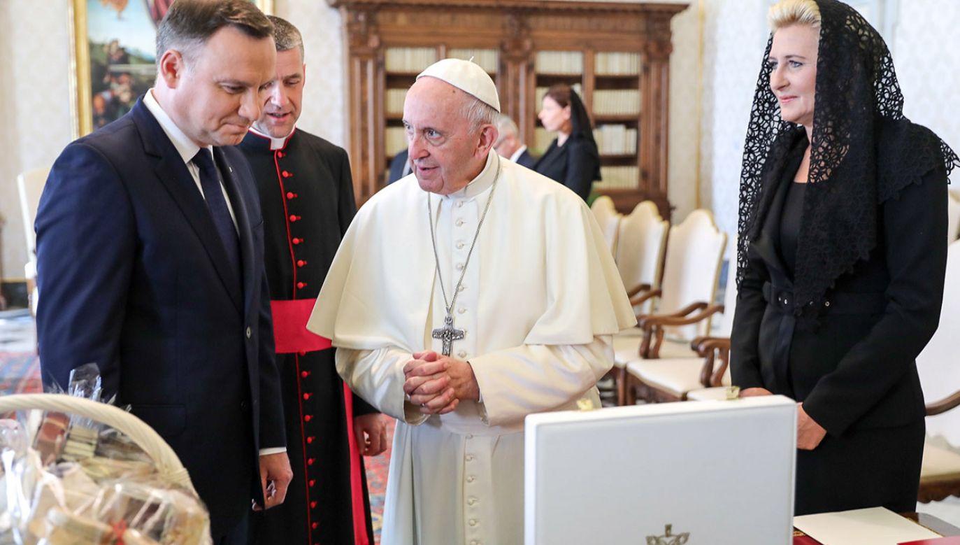Prezydent Andrzej Duda został przyjęty na audiencji u papieża Franciszka (fot. PAP/KPRP/Jakub Szymczuk )