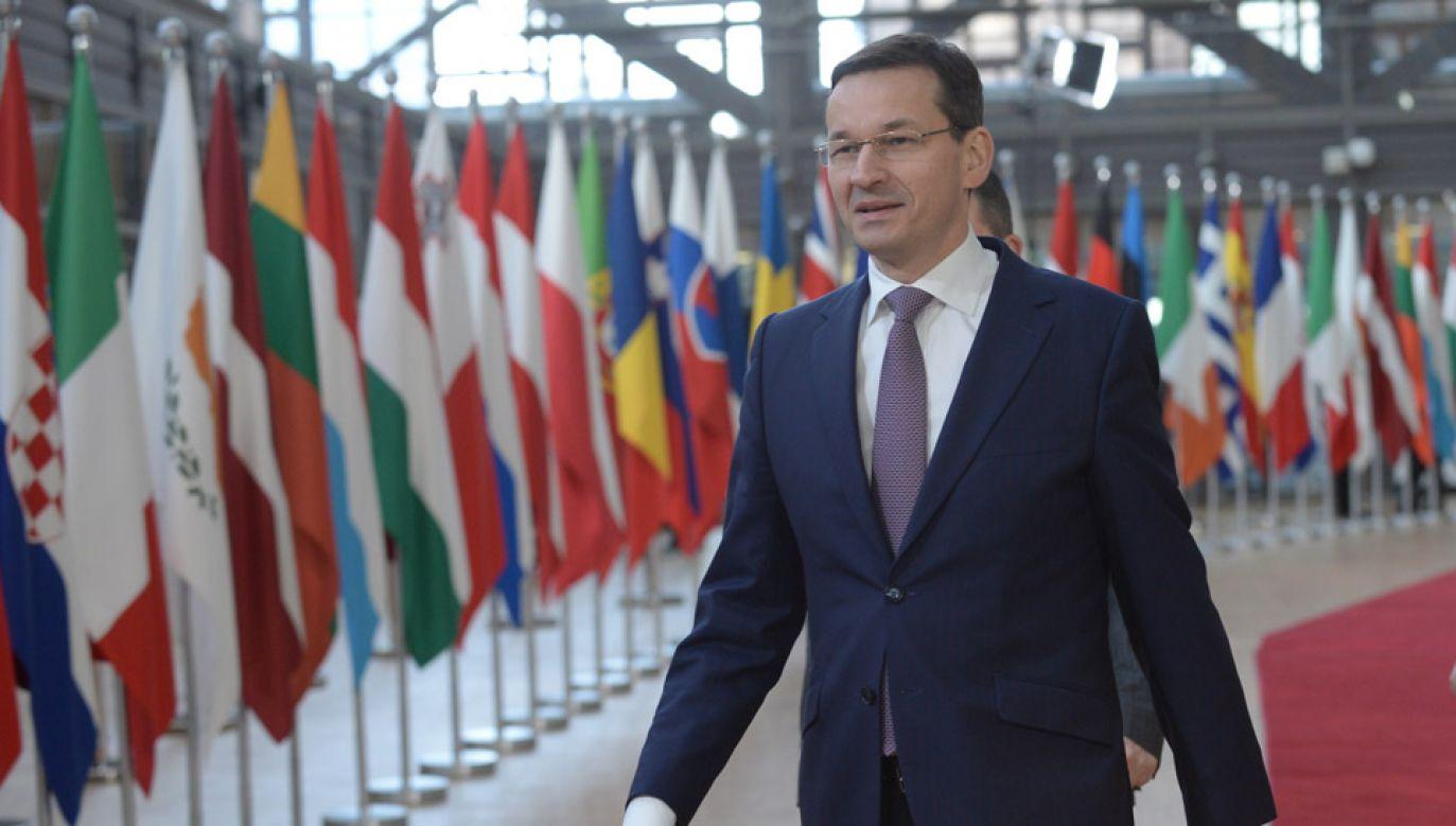 Premier Mateusz Morawiecki bierze udział w nieformalnym szczycie unijnych przywódców (fot. PAP/Marcin Obara)