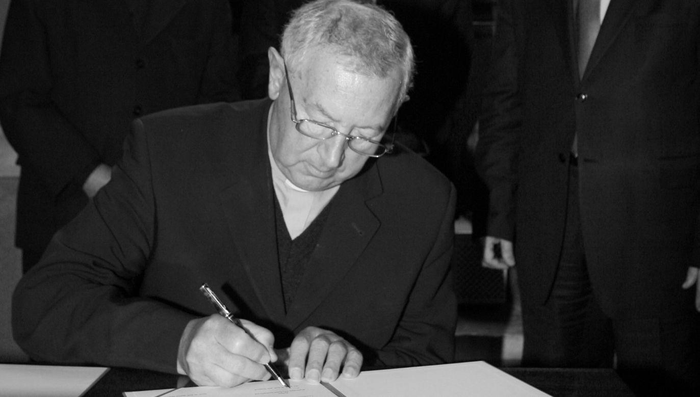 W latach 2004-2010 ks. prof. dr hab. Jan Maciej Dyduch był rektorem Uniwersytetu Papieskiego Jana Pawła II w Krakowie (fot. arch. PAP/ Jacek Bednarczyk)