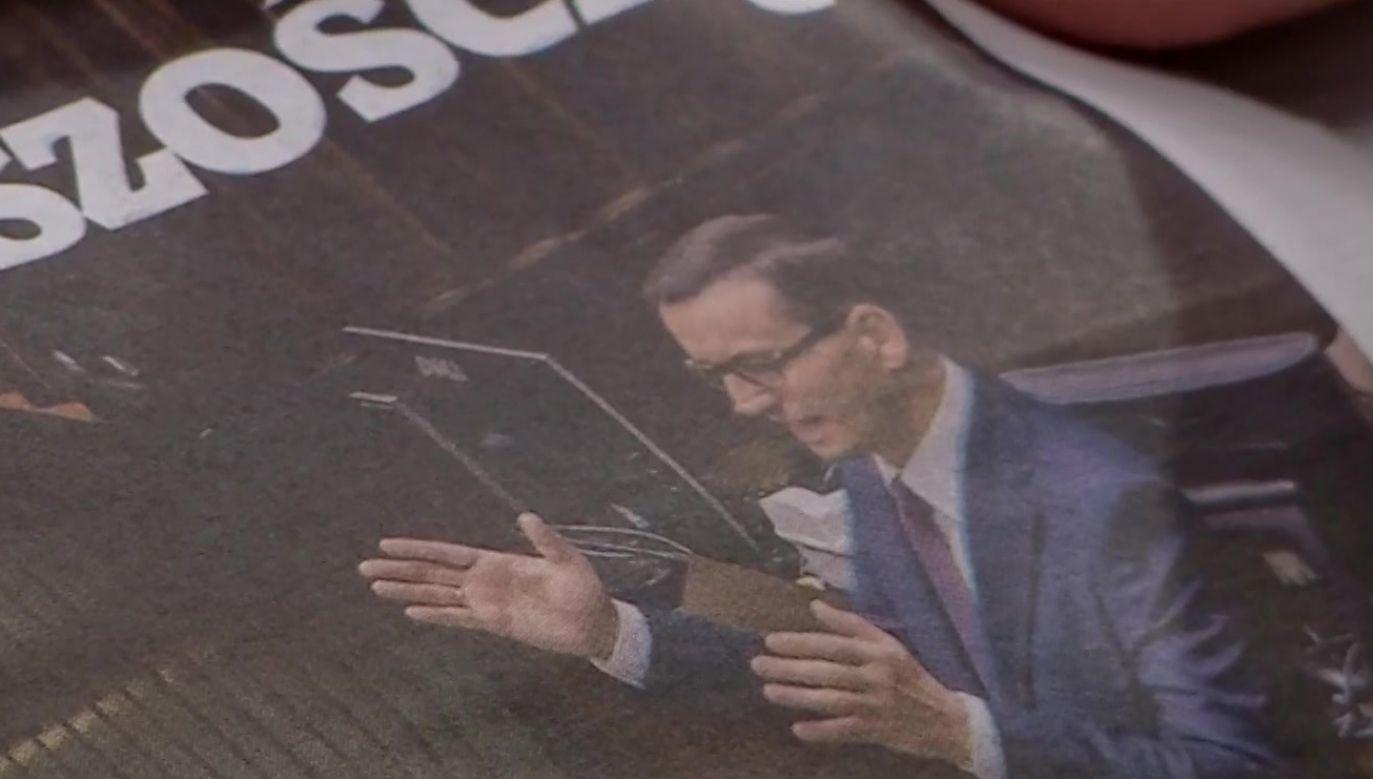 Premier Mateusz Morawiecki uzyskał votum nieufności (fot. TVP Info)