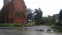 Zniszczenia nie ominęły kościoła w Żninie (fot. Radio Żnin)
