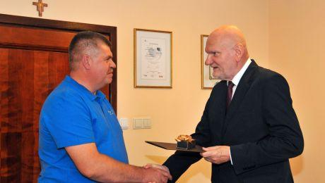 Krzysztof Lis odebrał gratulacje od prezydenta Michała Zaleskiego