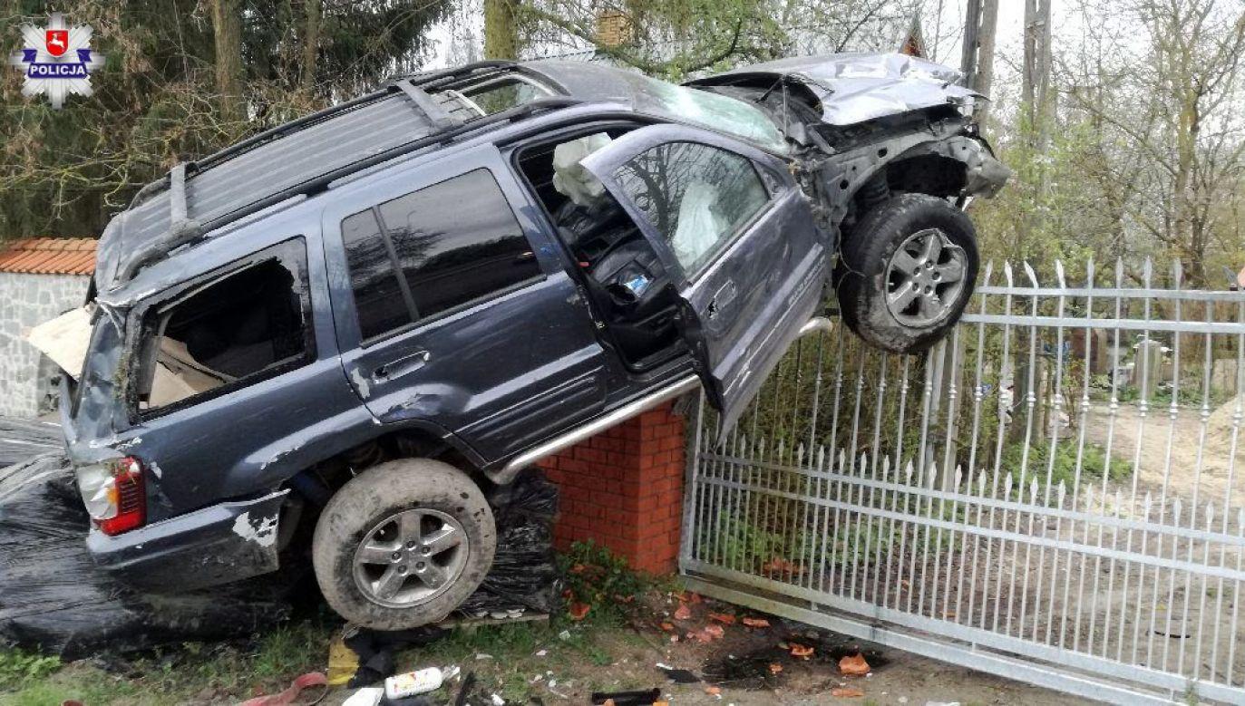 Mężczyzna został zatrzymany, odebrano mu także prawo jazdy (fot. Policja Lubelska)