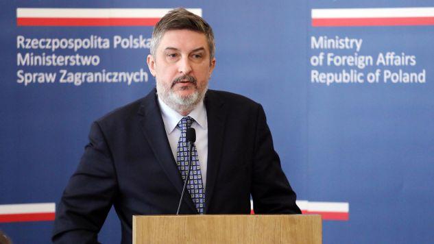 W spotkaniu uczestniczył ambasador RP na Białorusi Artur Michalski (fot. arch.  PAP/Tomasz Gzell)