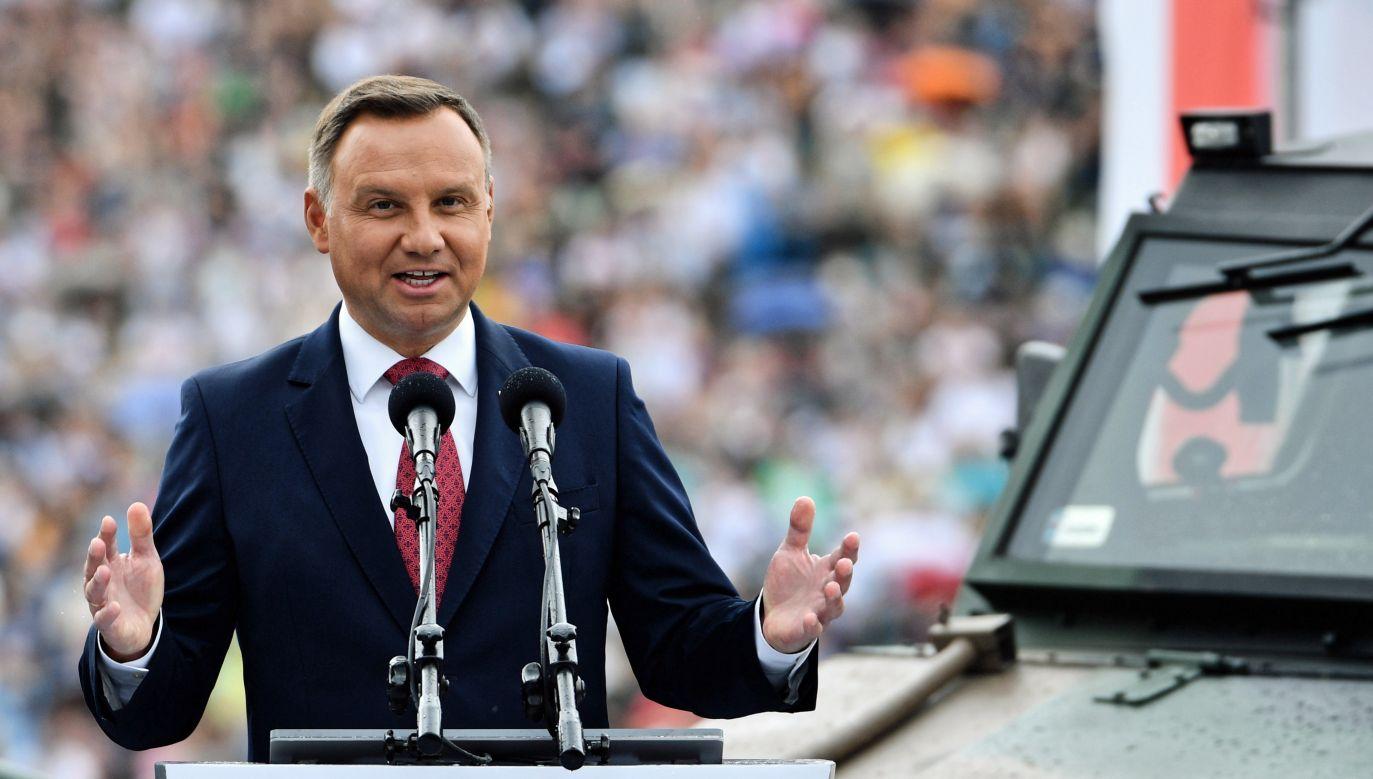 Andrzej Duda argumentuje, że zaproponowane zmiany powodują realny wzrost progu wyborczego od około 11 do 16,5 procent (fot. PAP/Jacek Turczyk)