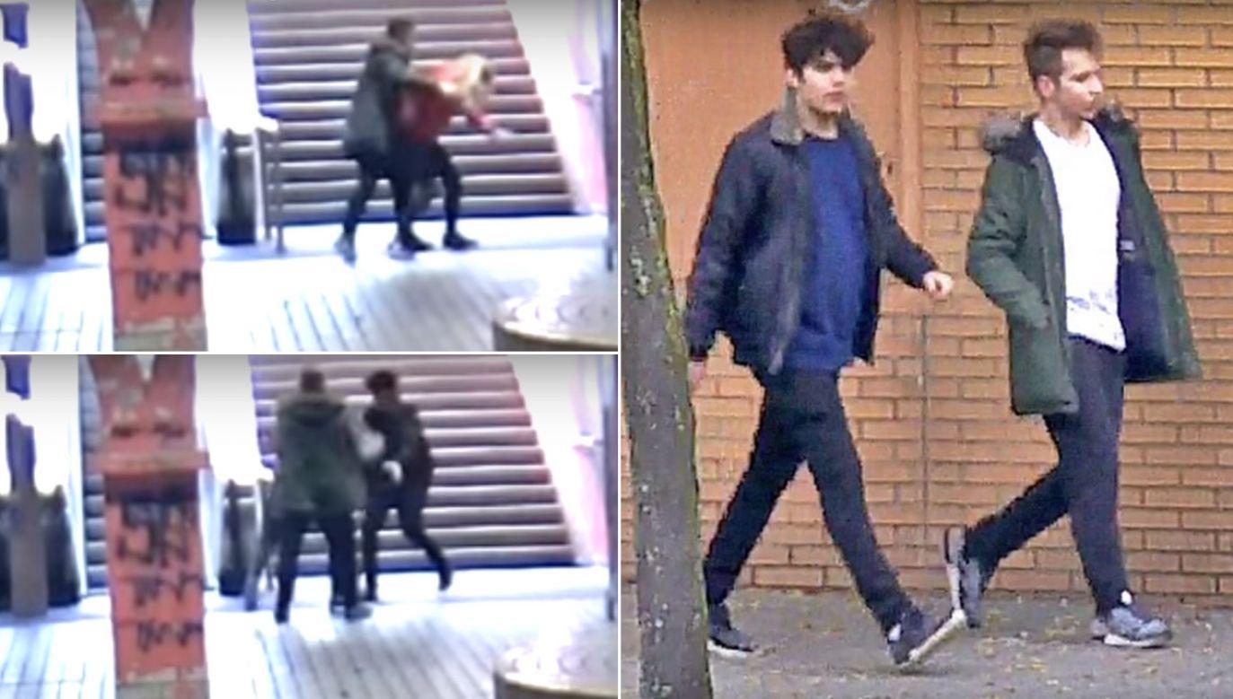 Napad na stacji metra w Essen (fot. YouTube/WELT)