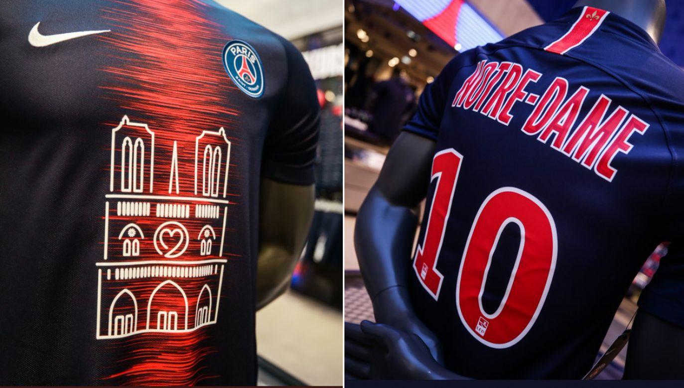 W takich koszulkach zagrali w niedzielę piłkarze PSG (3:1 z Monaco), którzy tego dnia zostali mistrzami kraju (fot. TT/Paris Saint-Germain)