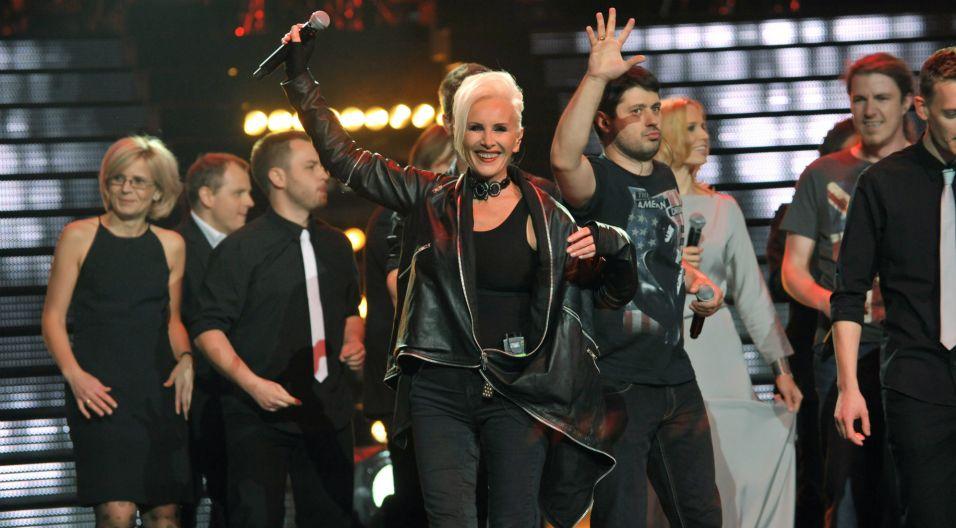 Artystka była gwiazdą koncertu z okazji 30-lecia Listy Przebojów Trójki Polskiego Radia. Przypomniała wtedy swoje największe hity (fot.TVP)