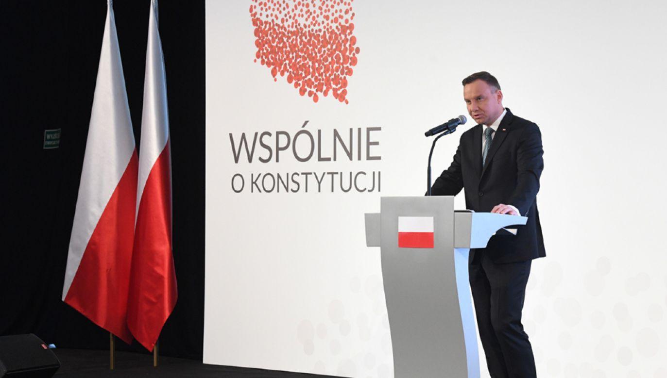 Prezydent Andrzej Duda (fot. PAP/Radek Pietruszka)