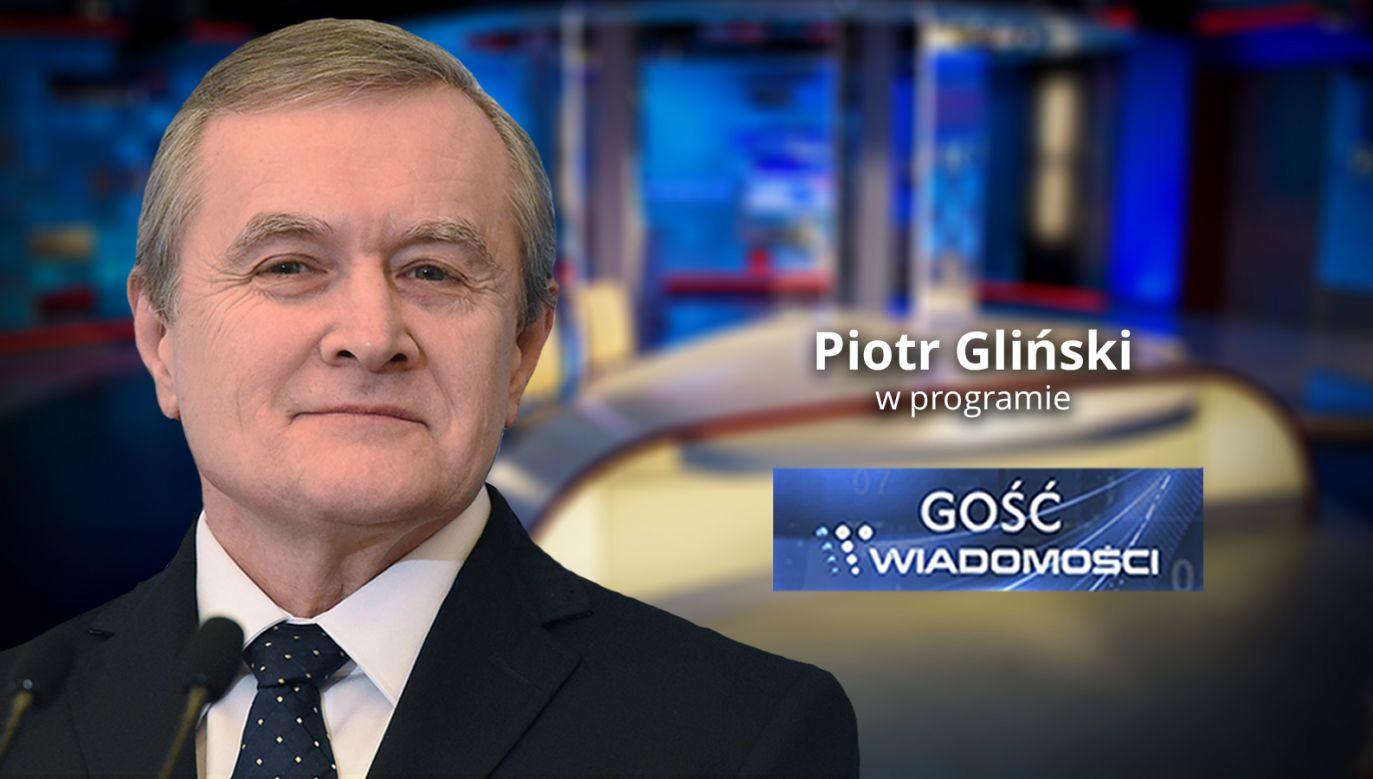 Wicepremier Piotr Gliński (fot. TVP Info)