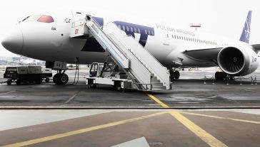 Dreamliner Boeing 787-9 Polskich Linii Lotniczych LOT (fot. arch. PAP/Paweł Supernak)