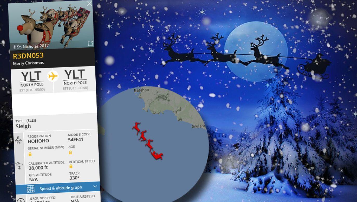 Święty Mikołaj dotarcza miliony prezentów każdego roku (fot. Pixabay/Flightradar24)