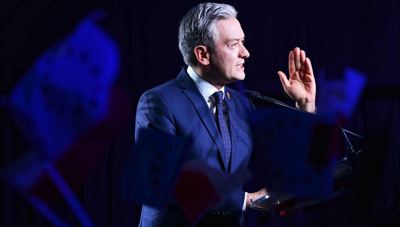 Lider Wiosny Robert Biedroń (fot. PAP/Jakub Kamiński)