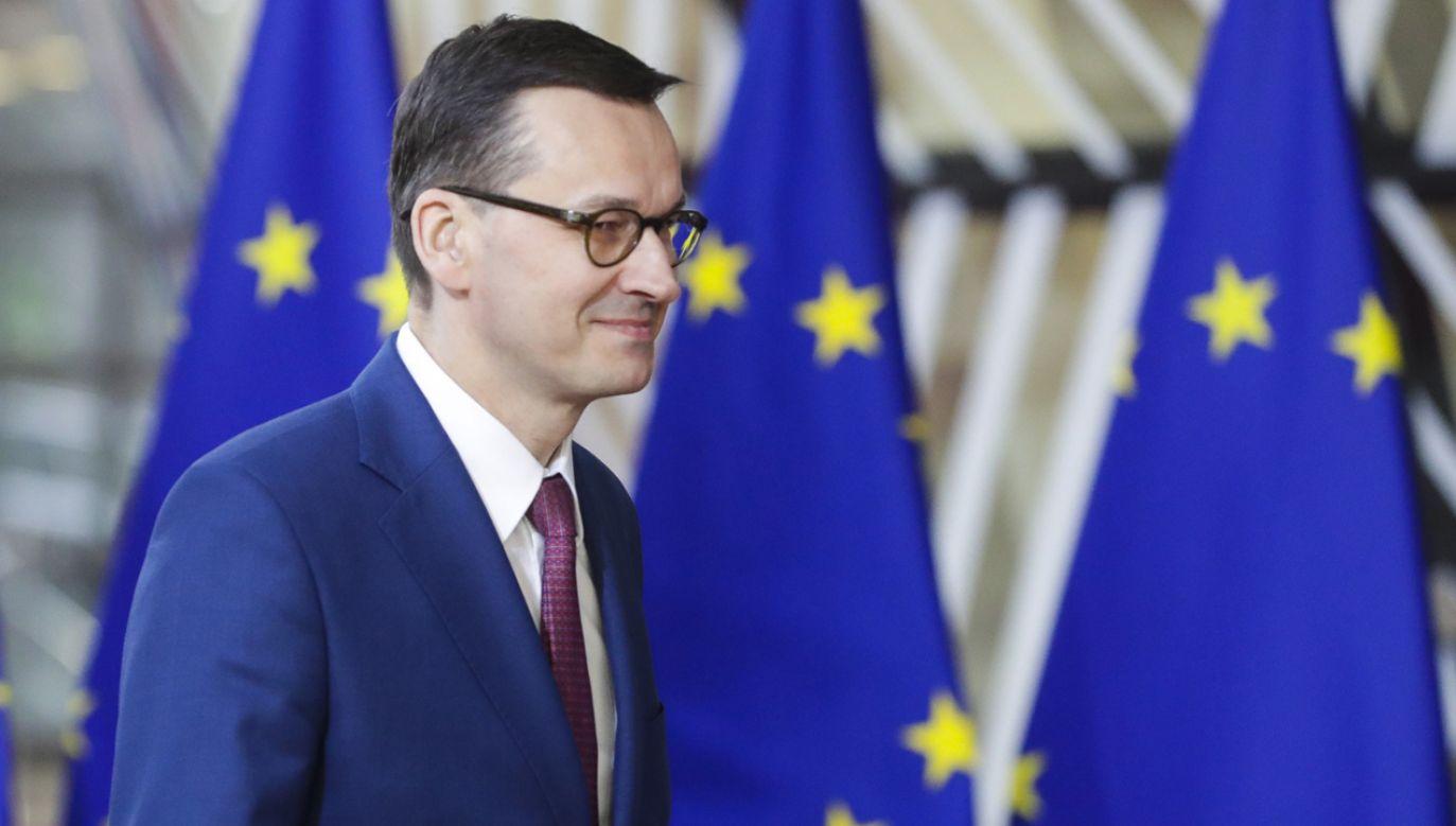 Premier Mateusz Morawiecki jest  zadowolony z ustaleń szczytu w sprawie brexitu (fot. PAP/EPA/STEPHANIE LECOCQ)