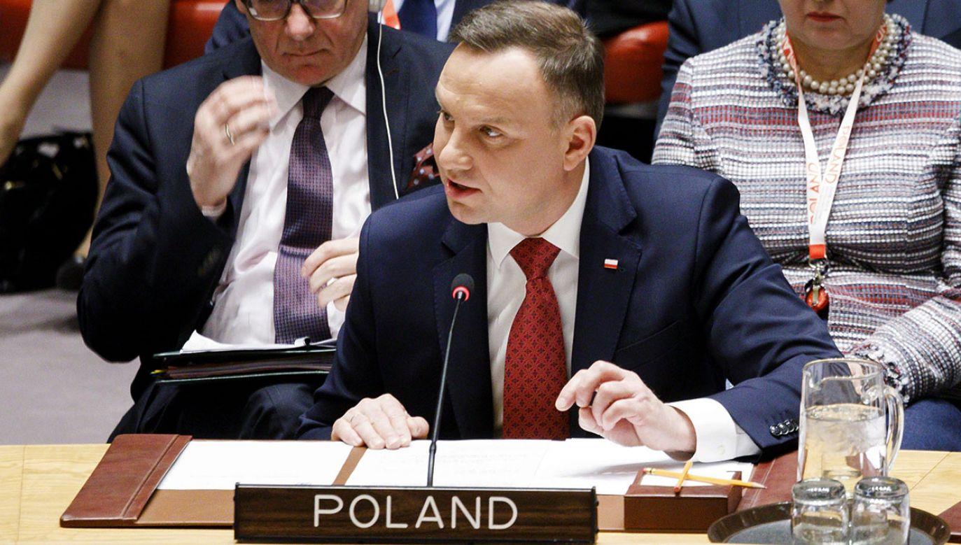 W kuluarach Zgromadzenia Ogólnego ONZ zaplanowane są rozmowy dwustronne z przywódcami innych państw (fot. PAP/EPA/JUSTIN LANE)