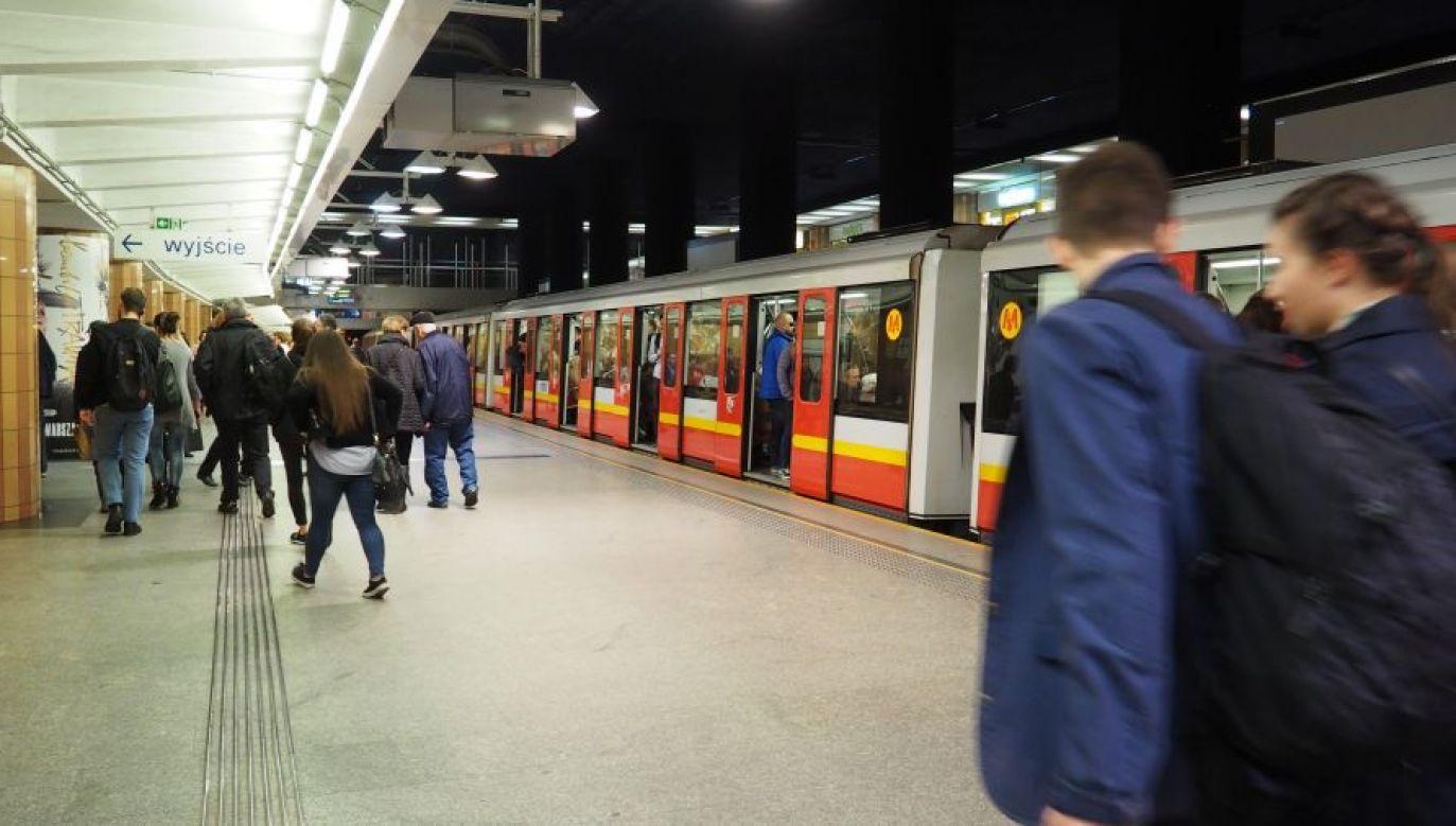 Warszawskie metro (fot. TVP3 Warszawa)
