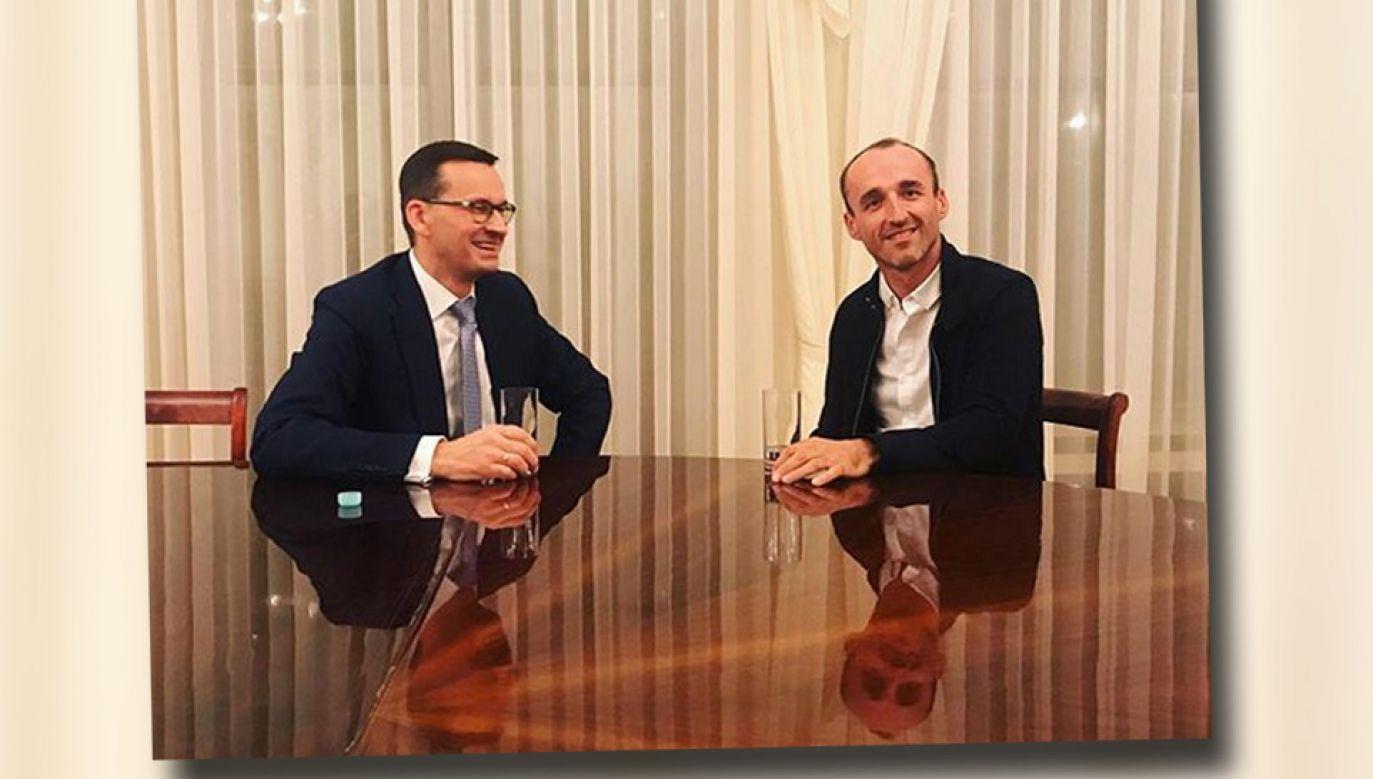 Mateusz Morawiecki przyjął Roberta Kubicę (fot. Instagram/Robertkubica_real)