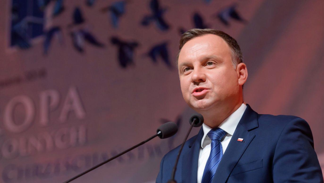 Prezydent Andrzej Duda cieszy się największym zaufaniem Polaków (fot. PAP/Jakub Kaczmarczyk)
