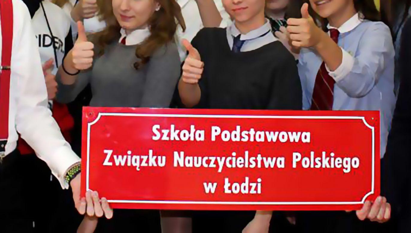 Rodzice płacą 760 zł czesnego za naukę dzieci w szkole ZNP (fot. FB/SP ZNP Szkoła Podstawowa Związku Nauczycielstwa Polskiego w Łodzi)
