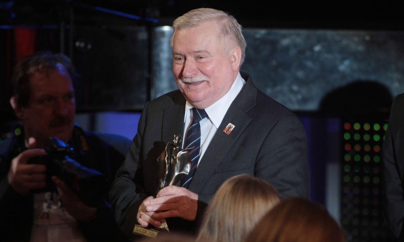 Były prezydent Lech Wałęsa otrzymał Wiktora w kategorii