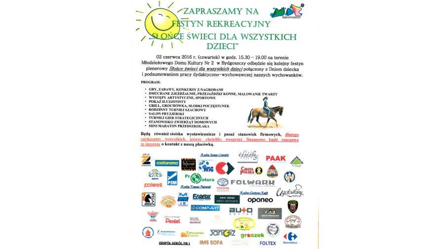 Festyn Słońce świeci Dla Wszystkich Dzieci Tvp3 Bydgoszcz