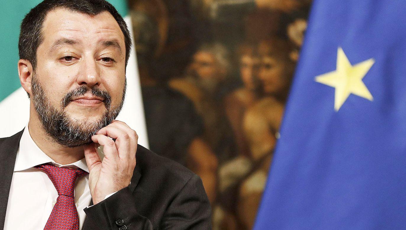 """Prezydent Francji """"dużo mówi, ale niewiele robi"""" – uważa wicepremier Włoch (fot. PAP/EPA/RICCARDO ANTIMIANI)"""