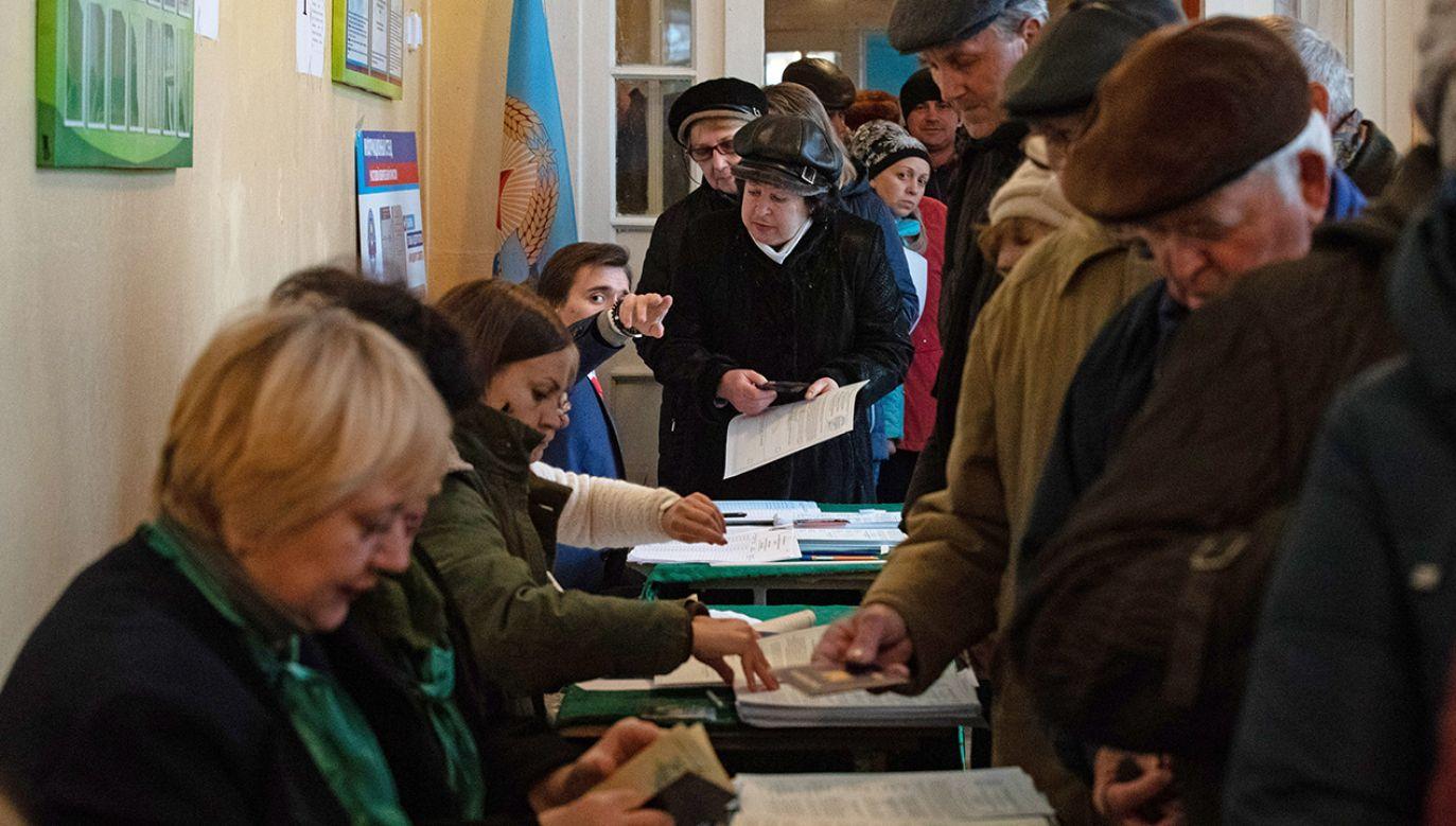 Wybory na terytoriach zajętych przez prorosyjskich separatystów odbyły się 11 listopada (fot. Stanislav Krasilnikov\TASS via Getty Images)