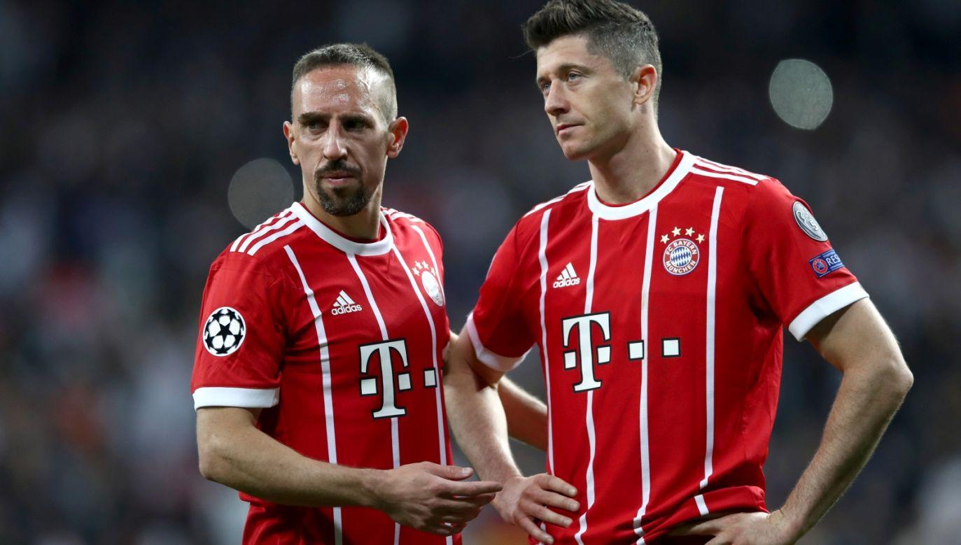 Franck Ribery (L) i Robert Lewandowski (fot. Getty Images)