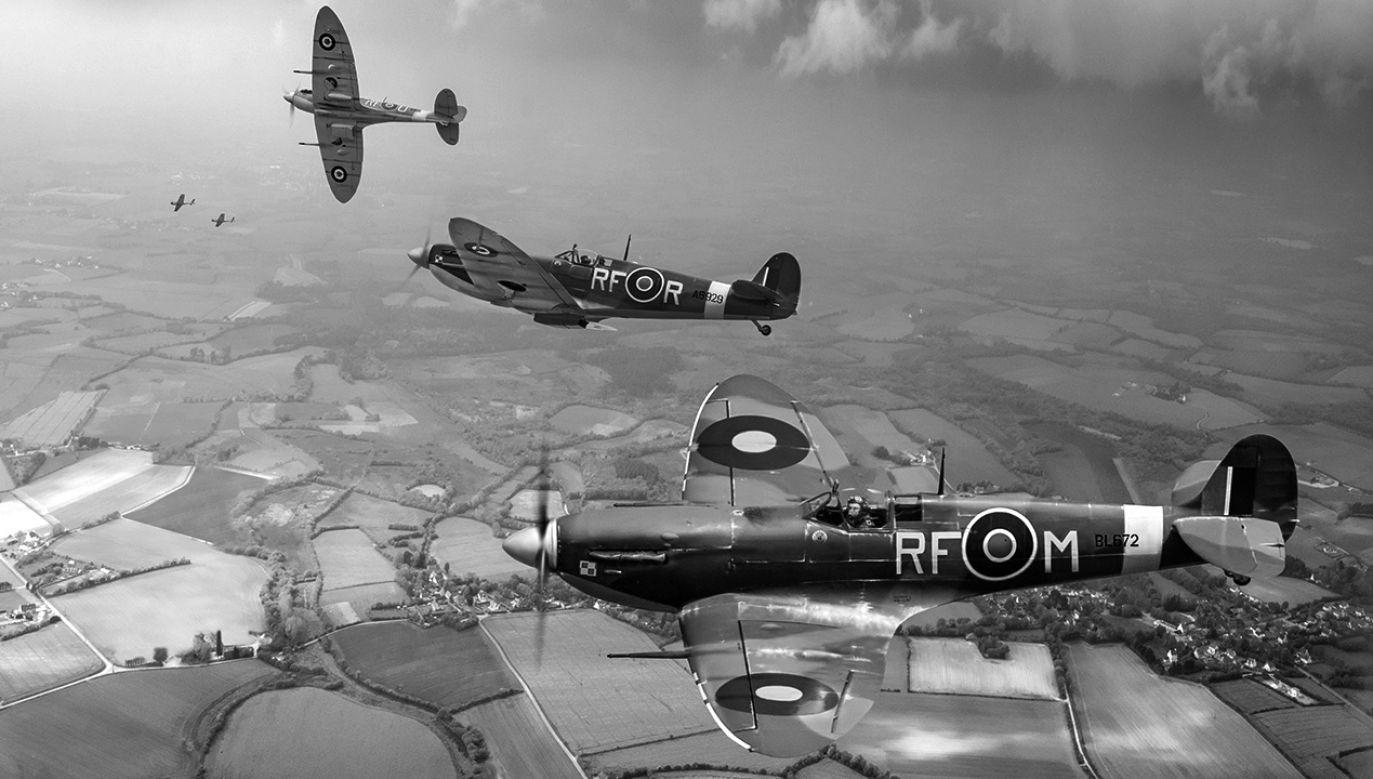 W sierpniu do kin wchodzą dwie konkurencyjne produkcje o lotnikach słynnego dywizjonu (fot. arch. PAP/Gary Eason / Flight Artworks / Alamy)