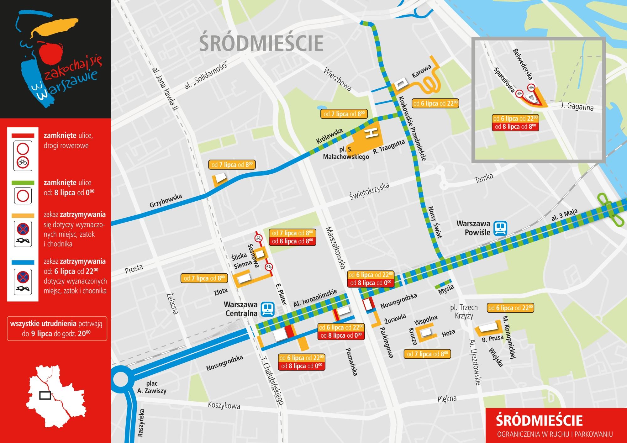 Zamkniete Kluczowe Ulice W Centrum Miasta